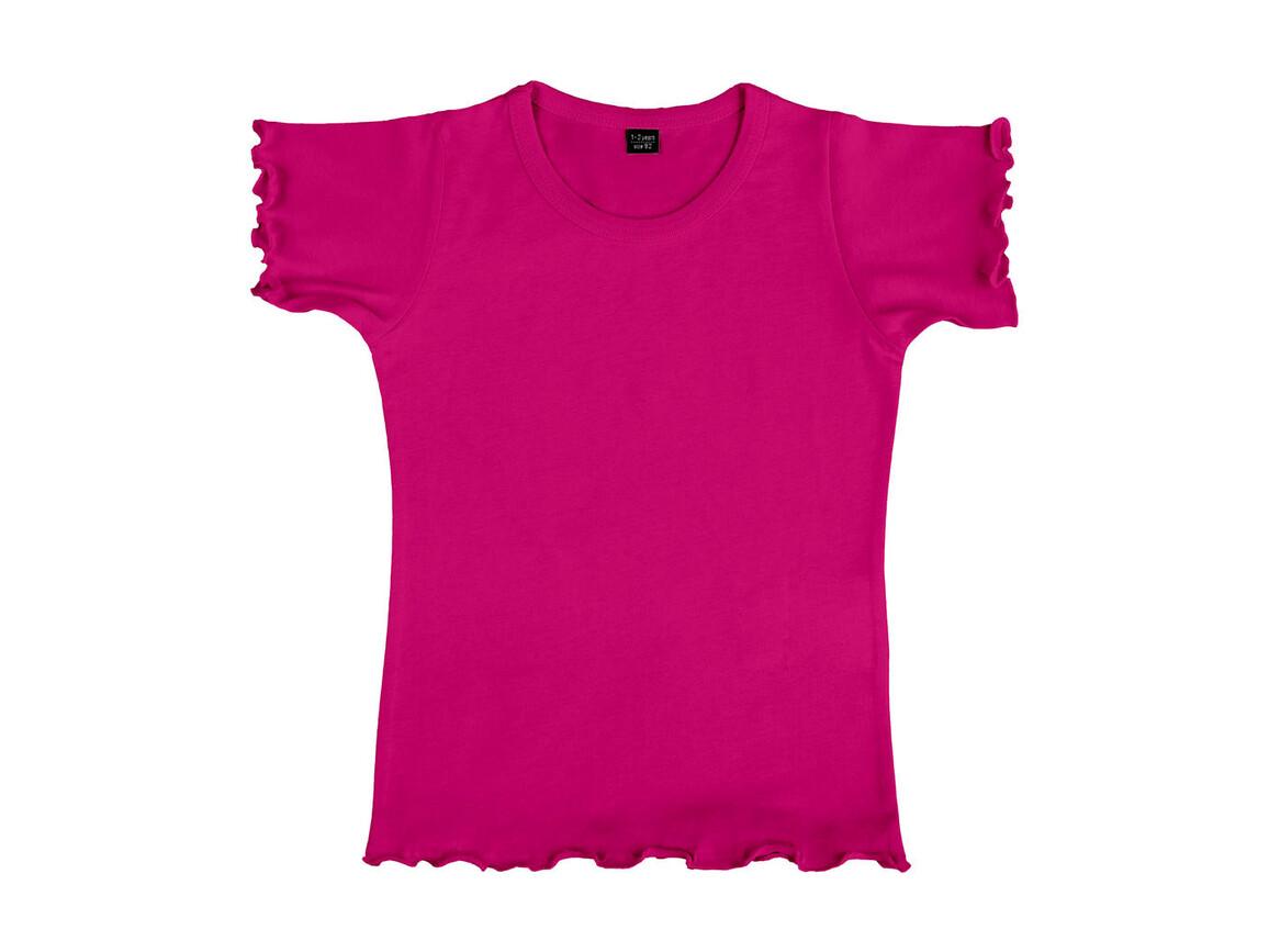 nakedshirt Mouse Girl`s Fashion T-Shirt, Dark Pink, 128 (7-8) bedrucken, Art.-Nr. 110854245