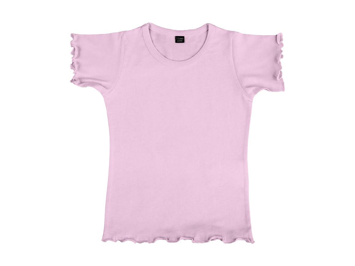 nakedshirt Mouse Girl`s Fashion T-Shirt, Rosé, 128 (7-8) bedrucken, Art.-Nr. 110854355