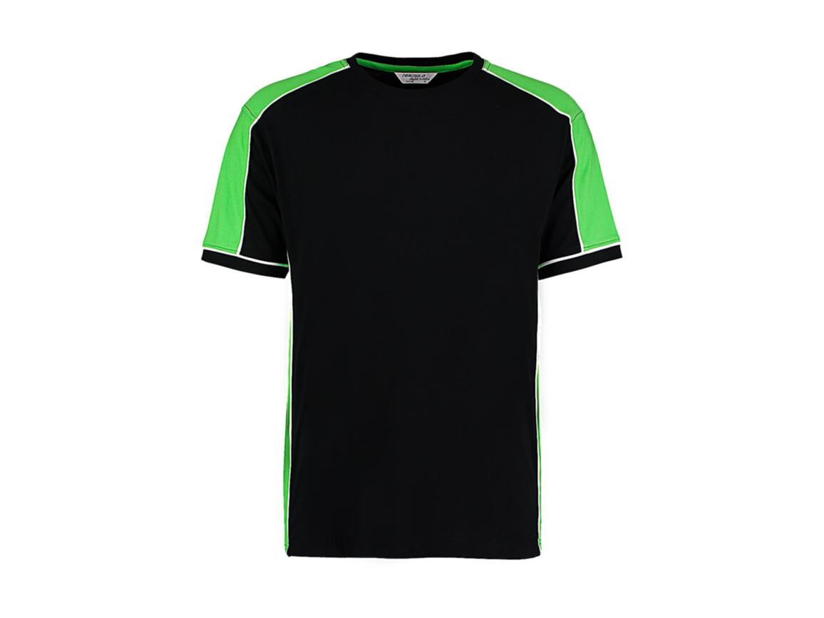 Kustom Kit Formula Racing® Estoril T-Shirt, Black/Lime/White, XL bedrucken, Art.-Nr. 111111716