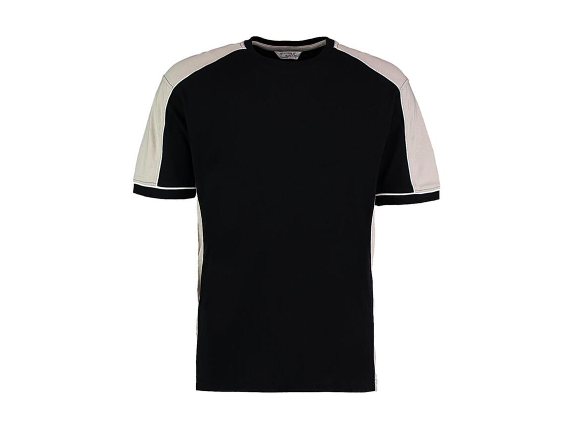 Kustom Kit Formula Racing® Estoril T-Shirt, Black/Grey/White, 2XL bedrucken, Art.-Nr. 111111837