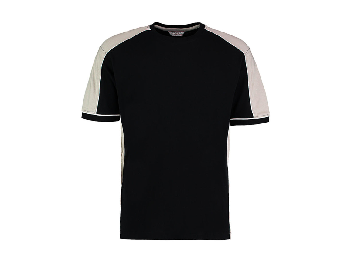 Kustom Kit Formula Racing® Estoril T-Shirt, Black/Grey/White, M bedrucken, Art.-Nr. 111111834