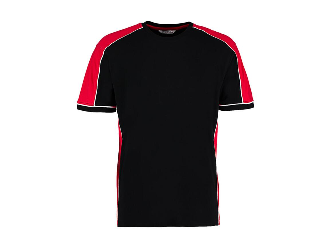 Kustom Kit Formula Racing® Estoril T-Shirt, Black/Red/White, L bedrucken, Art.-Nr. 111111855