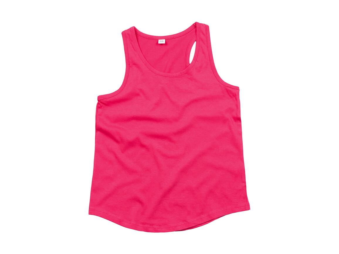 Humbugz Girls Racerback Tank Vest, Fuchsia, 4/5 bedrucken, Art.-Nr. 111494393
