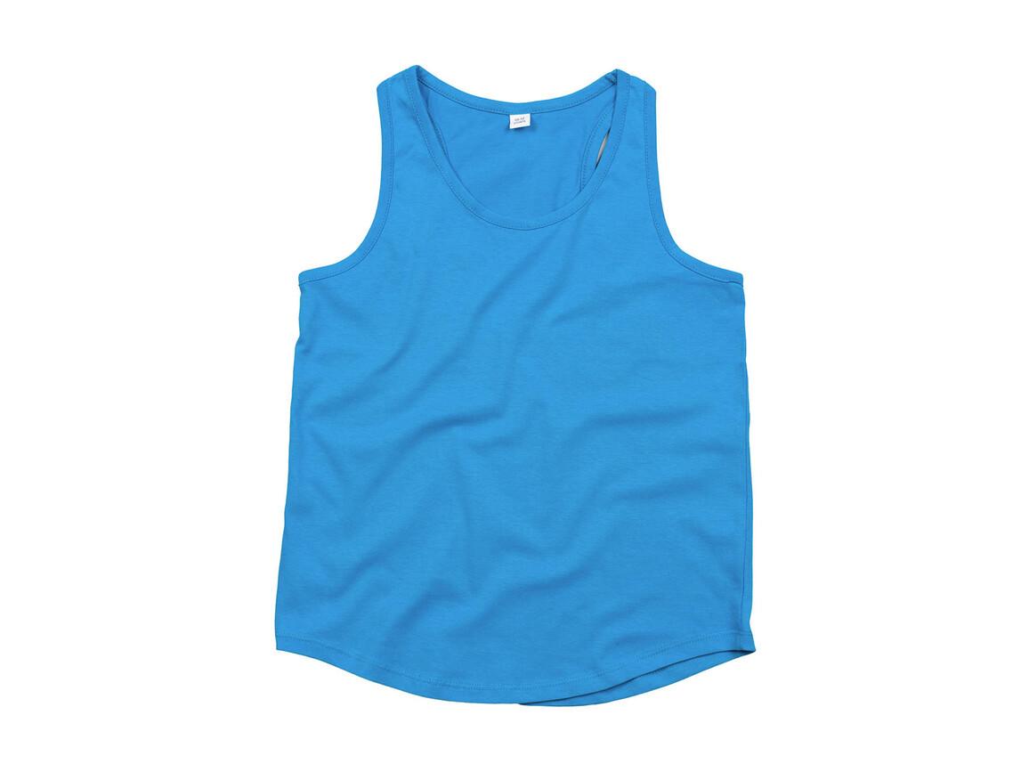 Humbugz Girls Racerback Tank Vest, Turquoise, 10/12 bedrucken, Art.-Nr. 111495366