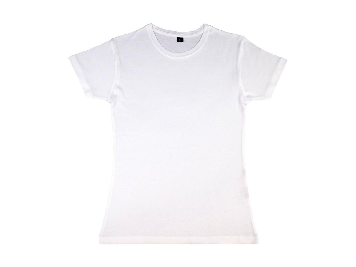 nakedshirt Lily Viscose-Cotton T-Shirt, White, M bedrucken, Art.-Nr. 111850004