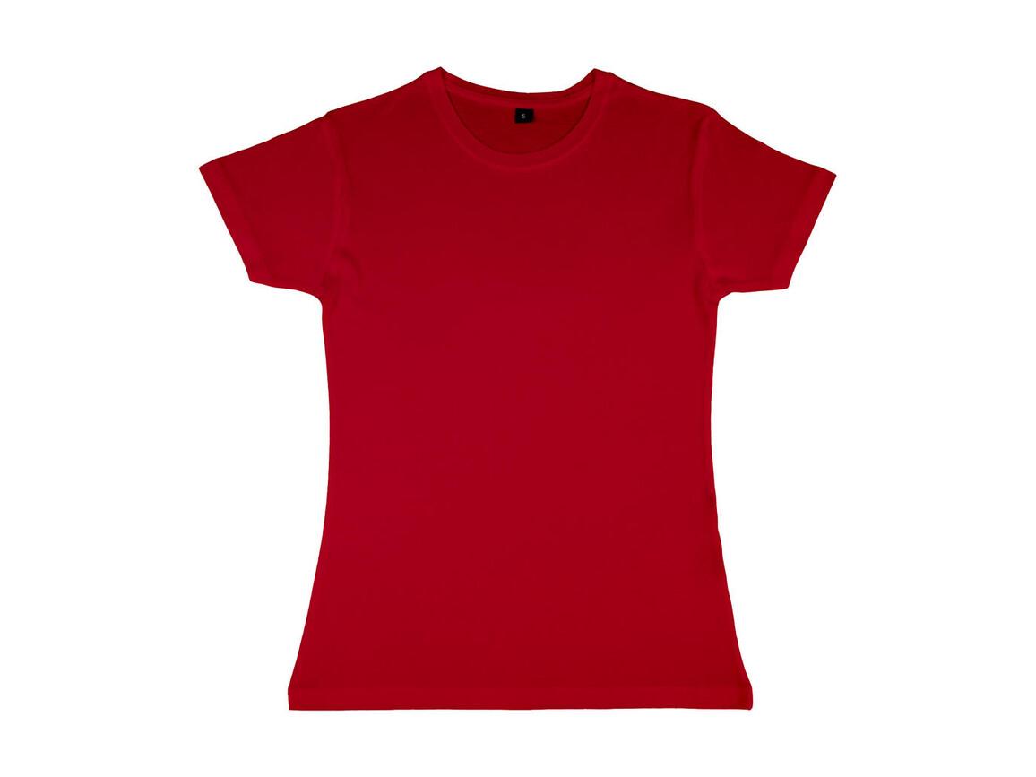 nakedshirt Lily Viscose-Cotton T-Shirt, Red, L bedrucken, Art.-Nr. 111854005