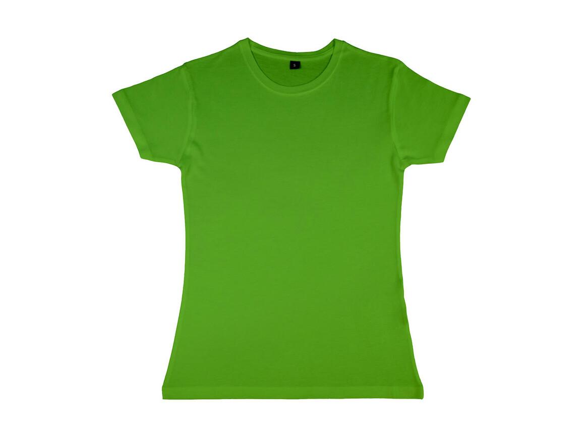 nakedshirt Lily Viscose-Cotton T-Shirt, Tropical Green, M bedrucken, Art.-Nr. 111855024