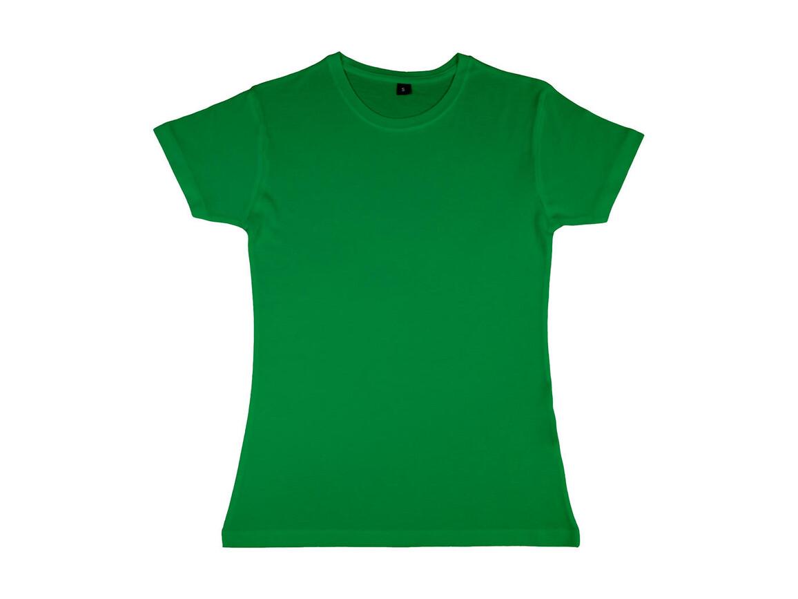 nakedshirt Lily Viscose-Cotton T-Shirt, Kelly Green, XL bedrucken, Art.-Nr. 111855186