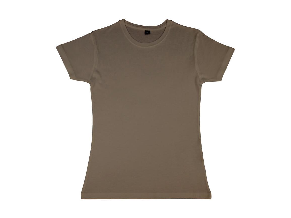 nakedshirt Lily Viscose-Cotton T-Shirt, Walnut, XL bedrucken, Art.-Nr. 111857076