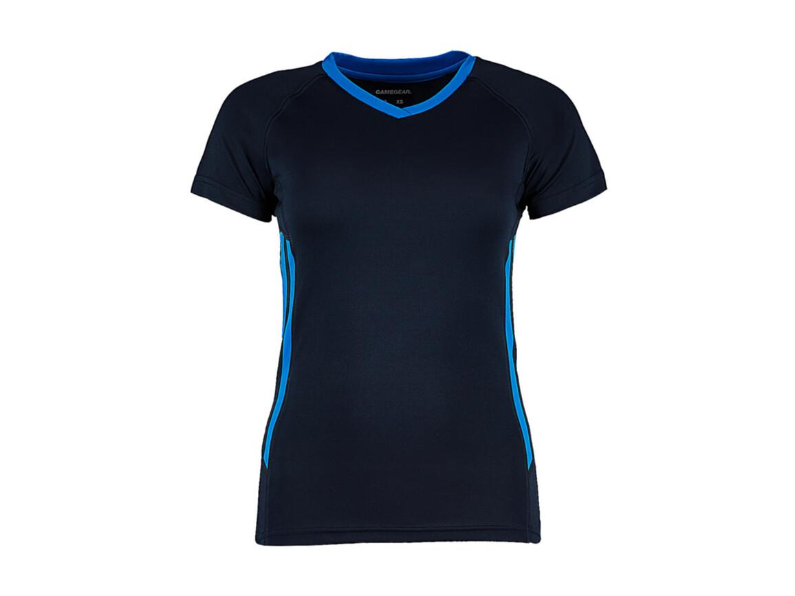 Kustom Kit Women`s Regular Fit Cooltex® Training Tee, Navy/Electric Blue, XS bedrucken, Art.-Nr. 113112680