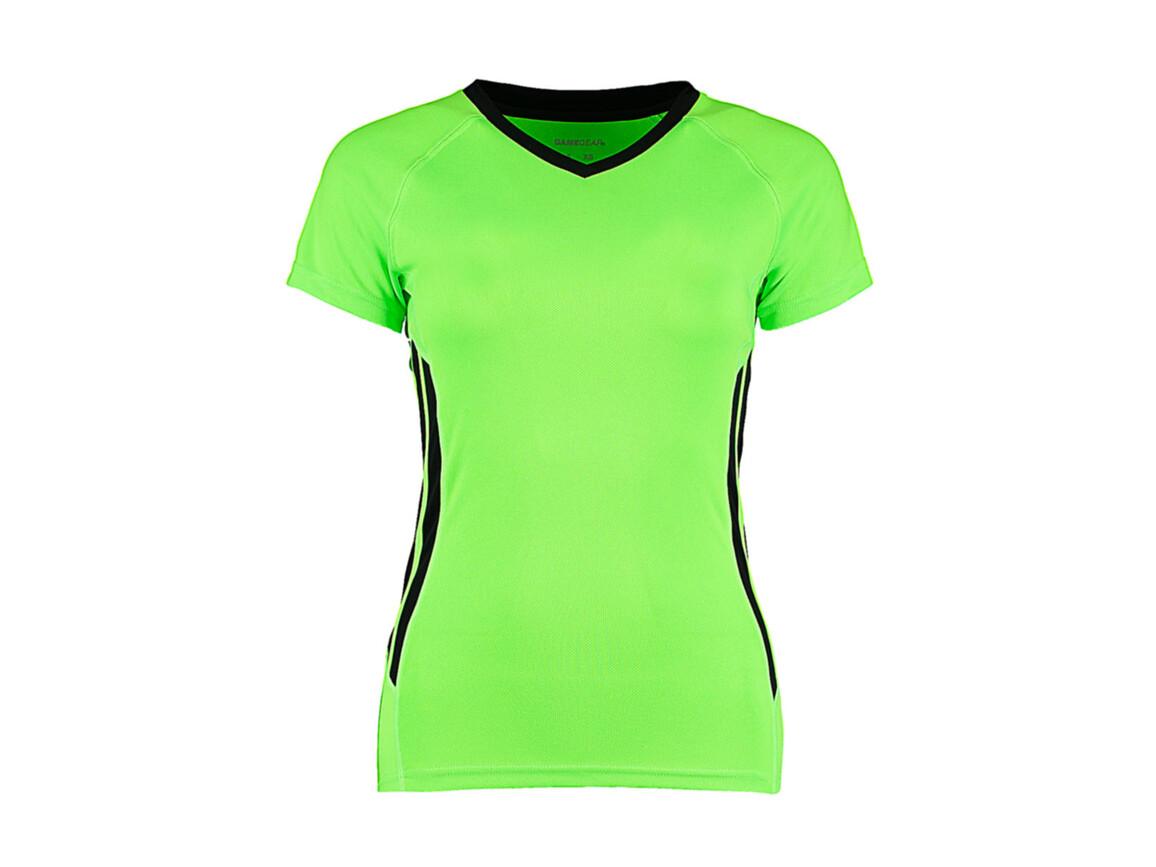 Kustom Kit Women`s Regular Fit Cooltex® Training Tee, Fluorescent Lime/Black, M bedrucken, Art.-Nr. 113115512