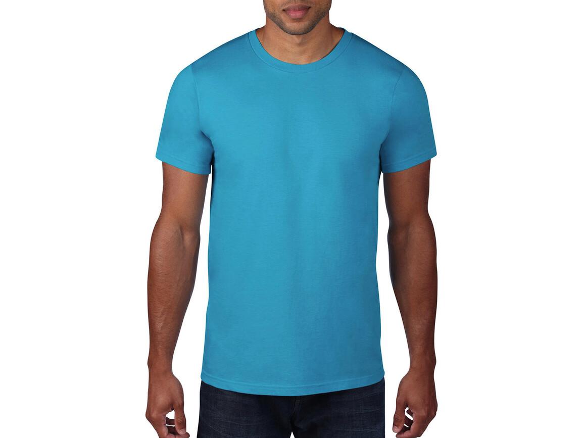 Anvil Adult Fashion Basic Tee, Caribbean Blue, M bedrucken, Art.-Nr. 115083174