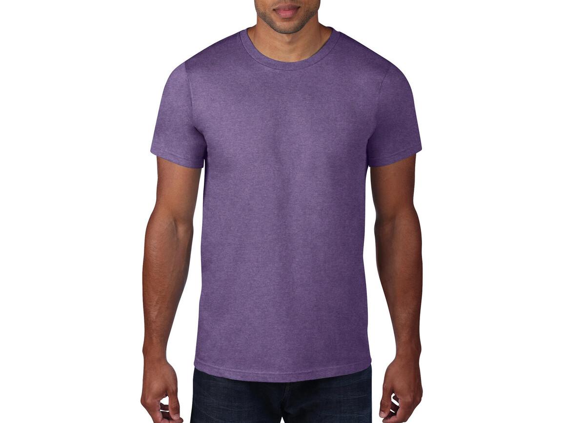 Anvil Adult Fashion Basic Tee, Heather Purple, L bedrucken, Art.-Nr. 115083475