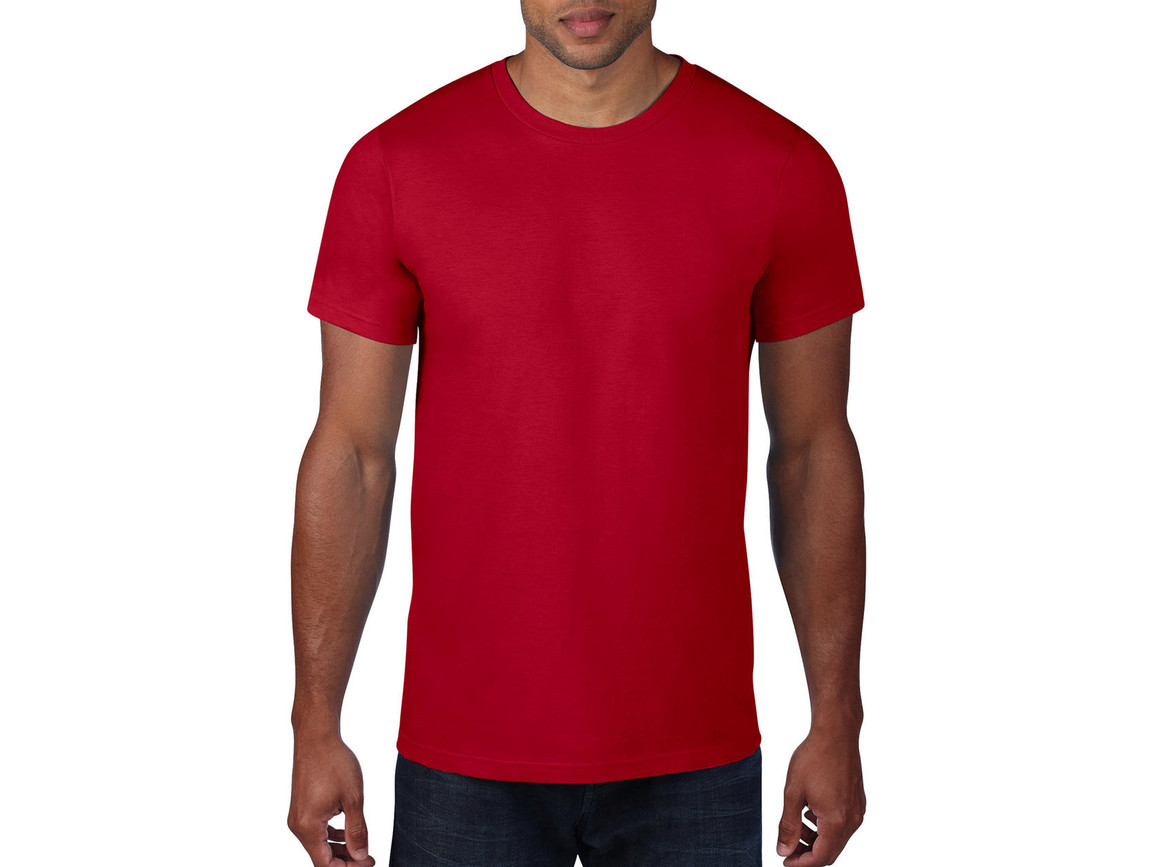 Anvil Adult Fashion Basic Tee, Red, 2XL bedrucken, Art.-Nr. 115084007