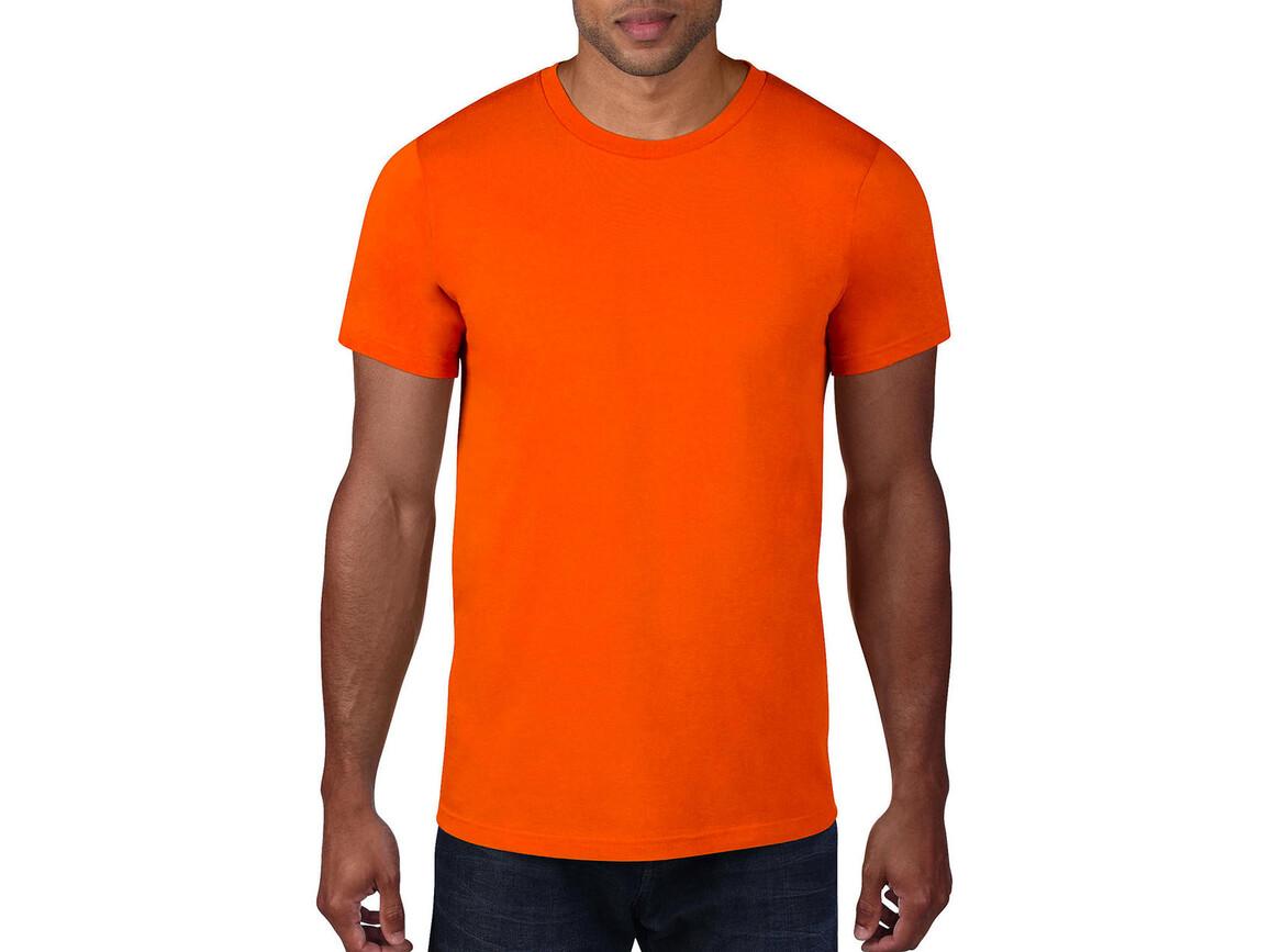 Anvil Adult Fashion Basic Tee, Neon Orange, 2XL bedrucken, Art.-Nr. 115084337