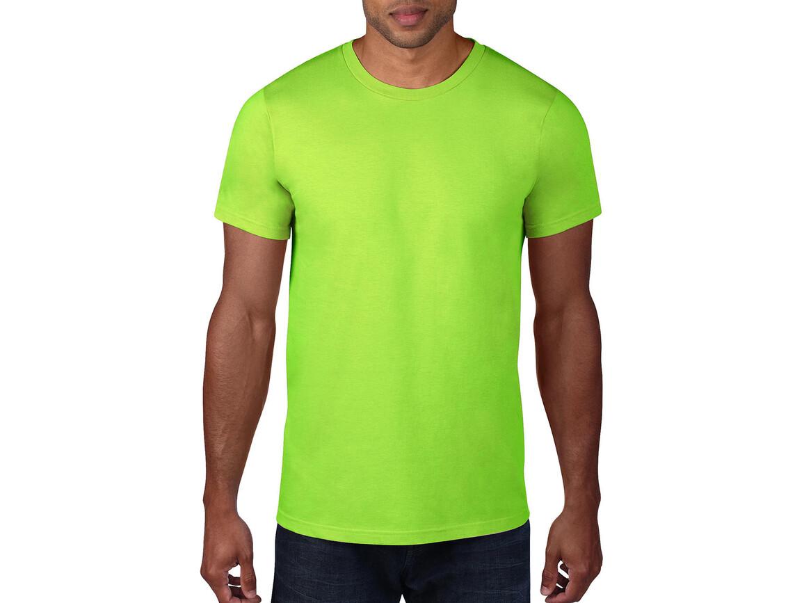 Anvil Adult Fashion Basic Tee, Neon Green, 2XL bedrucken, Art.-Nr. 115085447