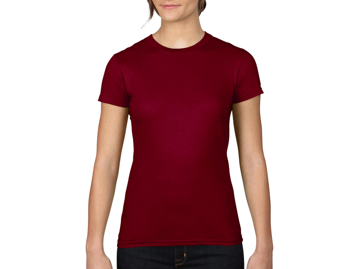 Anvil Ladies Fitted Fashion Tee, Independence Red, XL bedrucken, Art.-Nr. 131084046