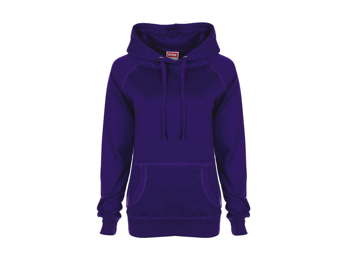 FDM Ladies` Raglan Hoodie, Purple, L bedrucken, Art.-Nr. 249553495