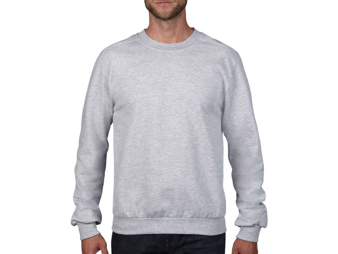 Anvil Adult Fashion Crewneck Sweat, Heather Grey, S bedrucken, Art.-Nr. 271081233