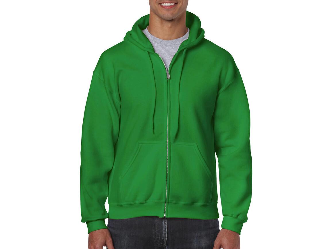 Gildan Heavy Blend Adult Full Zip Hooded Sweat, Irish Green, XL bedrucken, Art.-Nr. 293095096