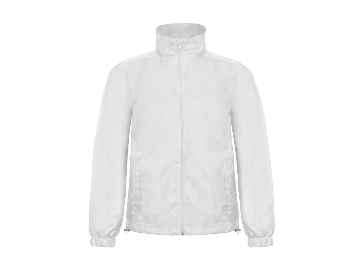 B & C ID.601 Midseason Windbreaker, White, 2XL bedrucken, Art.-Nr. 405420007