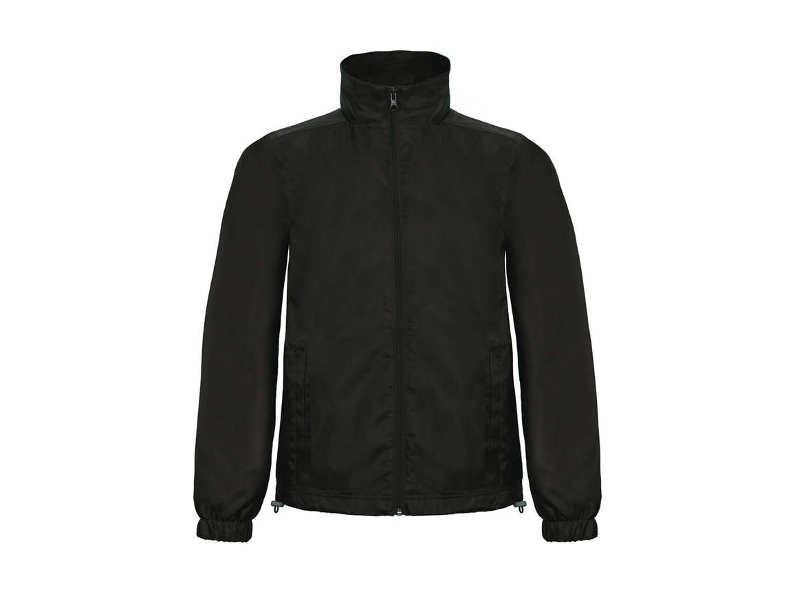 B & C ID.601 Midseason Windbreaker, Black, L bedrucken, Art.-Nr. 405421015