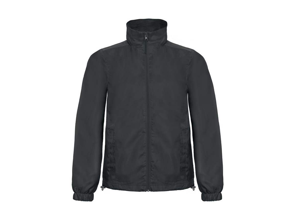 B & C ID.601 Midseason Windbreaker, Dark Grey, XL bedrucken, Art.-Nr. 405421286