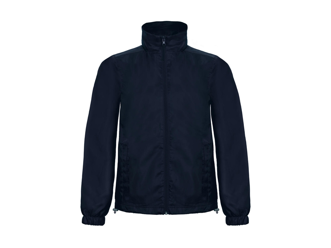 B & C ID.601 Midseason Windbreaker, Navy, M bedrucken, Art.-Nr. 405422004