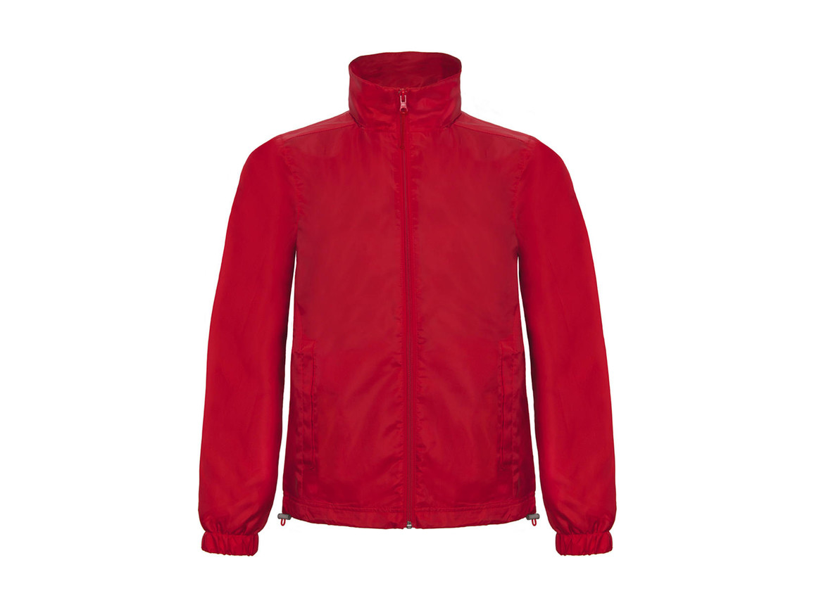 B & C ID.601 Midseason Windbreaker, Red, 2XL bedrucken, Art.-Nr. 405424007