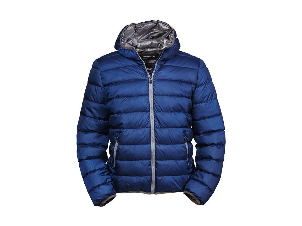 Tee Jays Hooded Zepelin Jacket, Navy/Grey, 2XL bedrucken, Art.-Nr. 406542747
