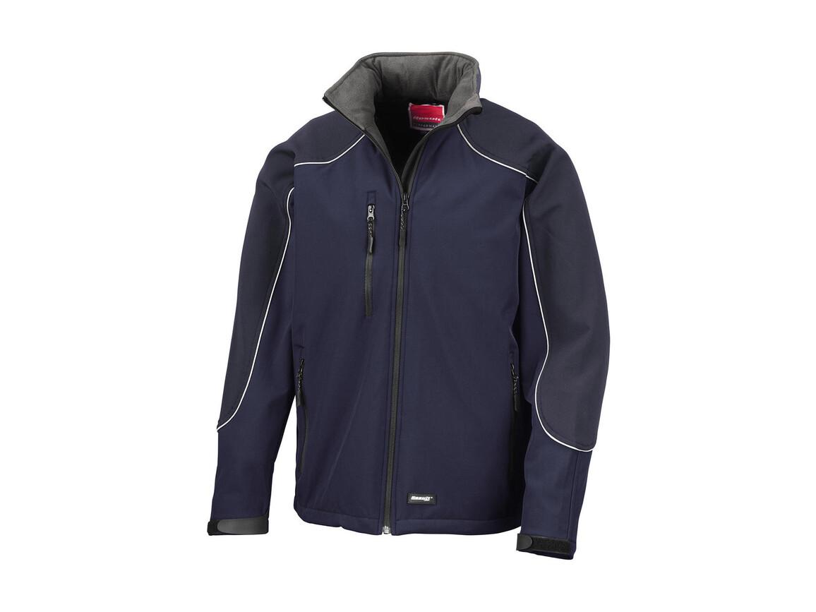 Result Ice Fell Hooded Softshell Jacket, Navy/Navy, 3XL bedrucken, Art.-Nr. 448332488