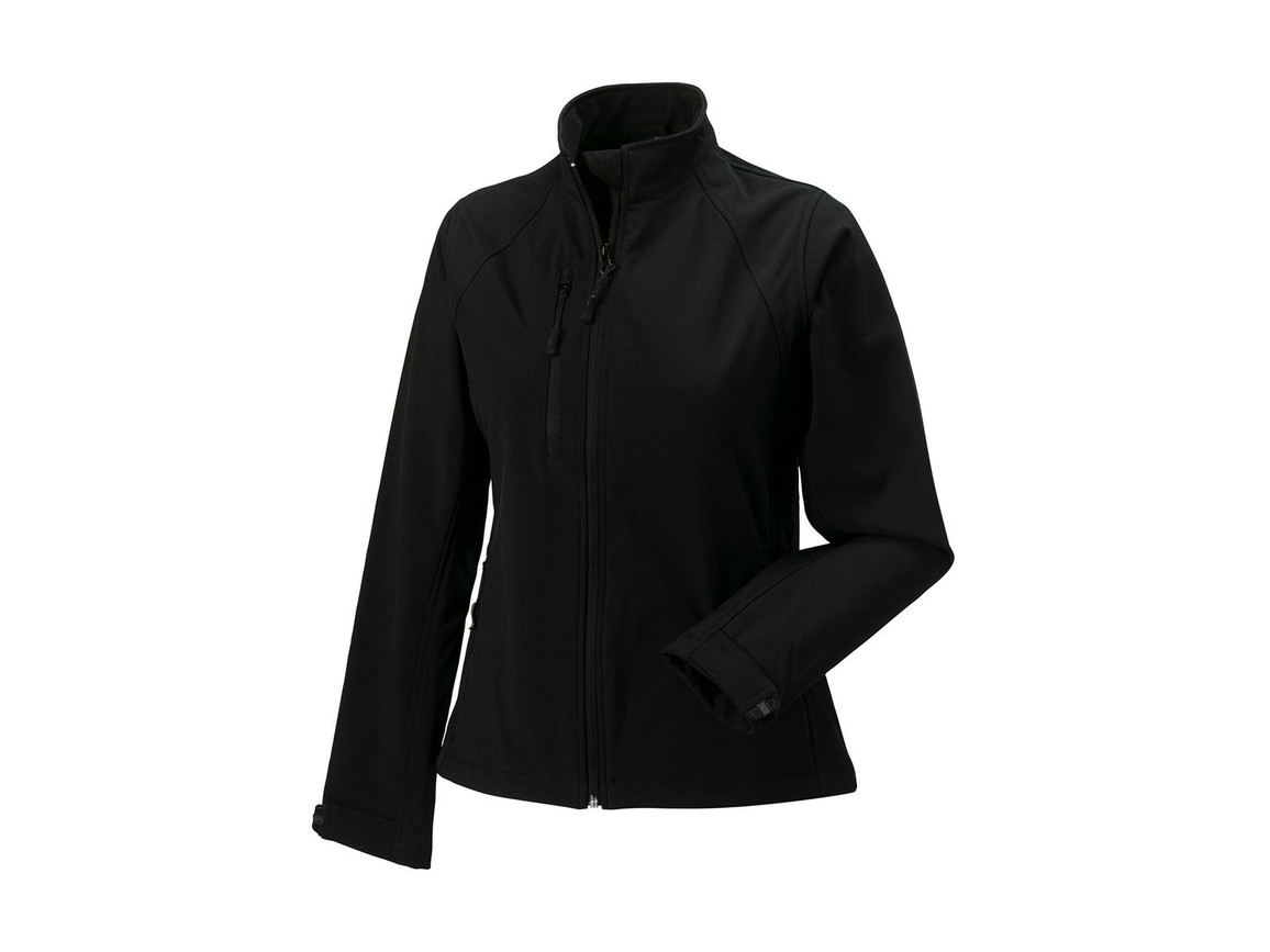 Russell Europe Ladies` Softshell Jacket, Black, 2XL (44) bedrucken, Art.-Nr. 462001017