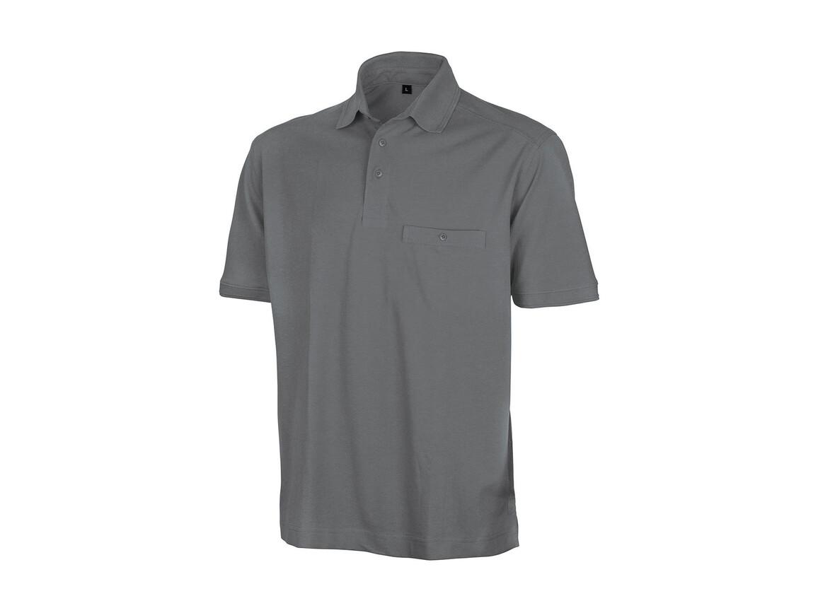 Result Apex Polo Shirt, Workguard Grey, 4XL bedrucken, Art.-Nr. 500331058