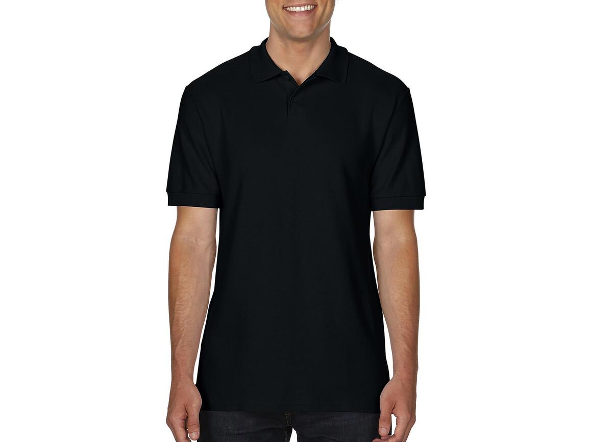 Gildan Softstyle® Adult Double Pique Polo, Black, M bedrucken, Art.-Nr. 501091014