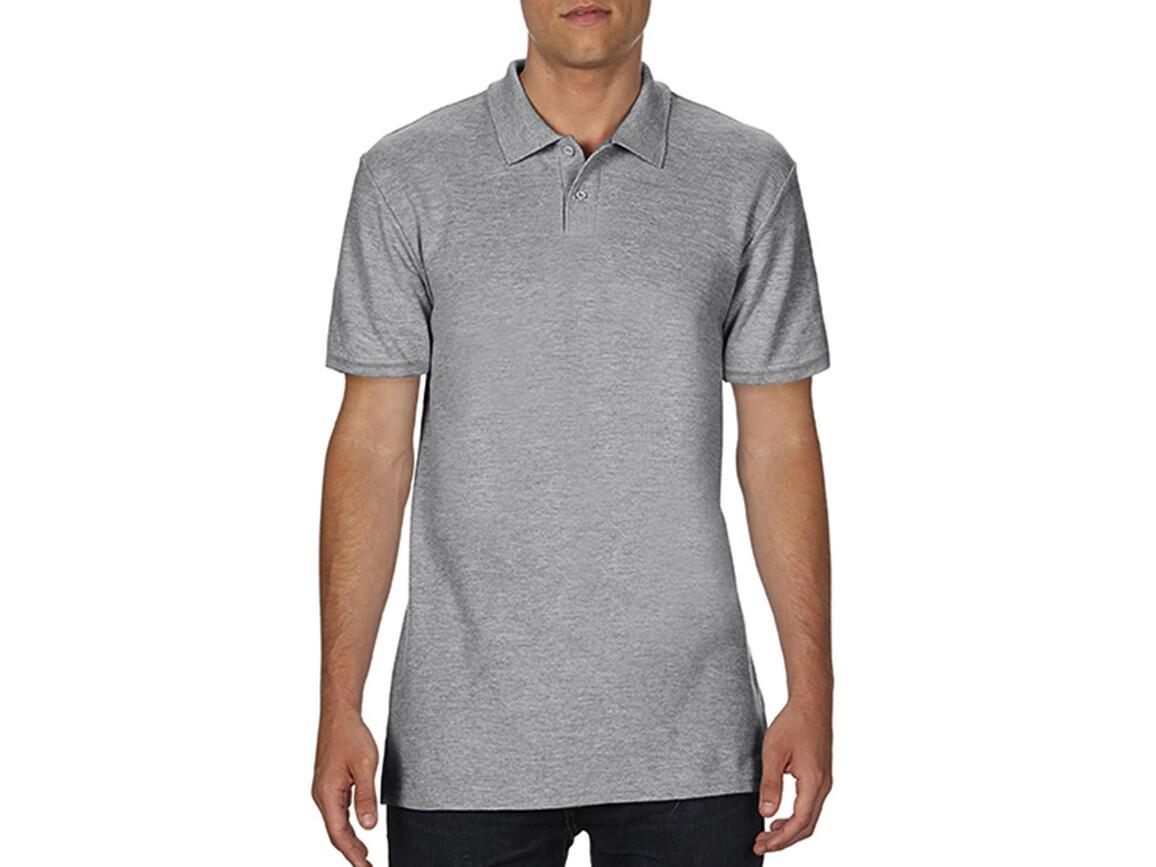 Gildan Softstyle® Adult Double Pique Polo, Sport Grey, 2XL bedrucken, Art.-Nr. 501091257
