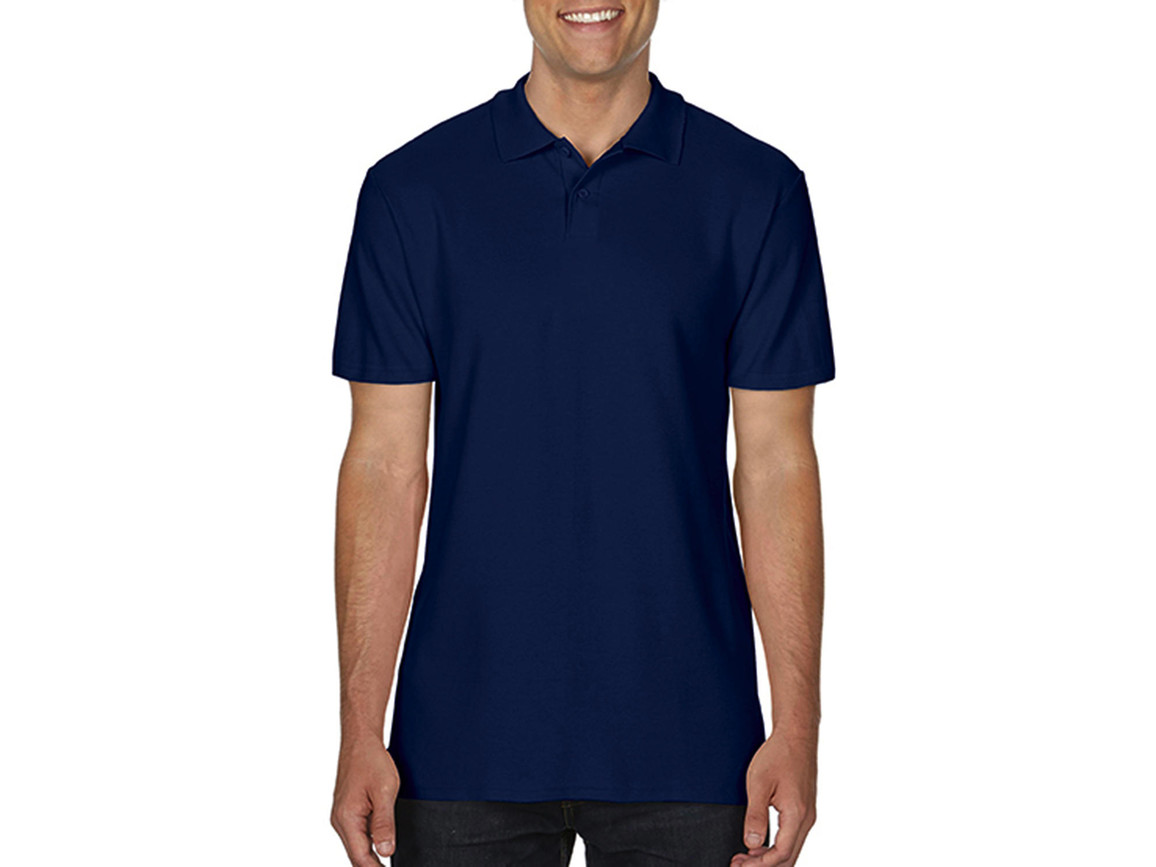 Gildan Softstyle® Adult Double Pique Polo, Navy, 2XL bedrucken, Art.-Nr. 501092007