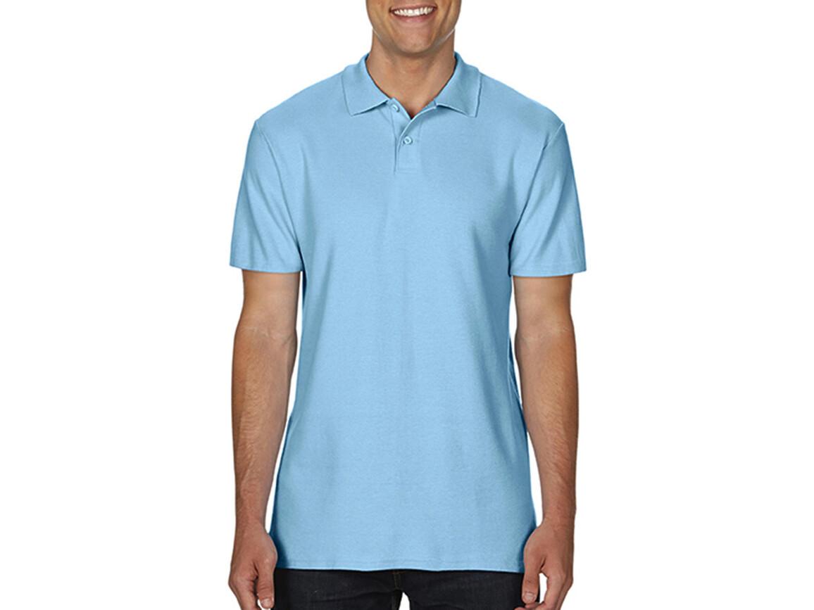 Gildan Softstyle® Adult Double Pique Polo, Light Blue, L bedrucken, Art.-Nr. 501093215