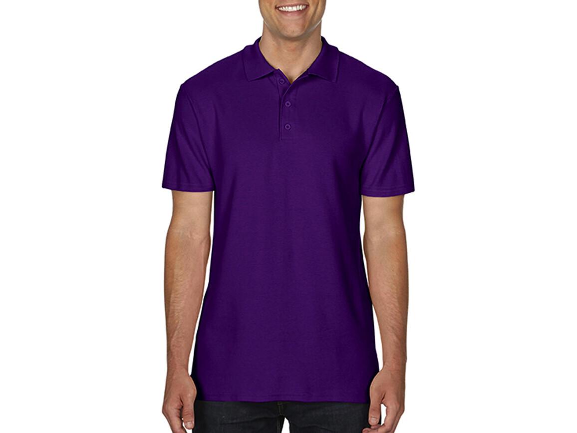 Gildan Softstyle® Adult Double Pique Polo, Purple, 2XL bedrucken, Art.-Nr. 501093497