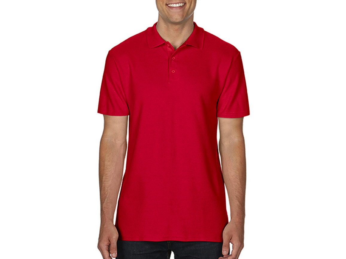 Gildan Softstyle® Adult Double Pique Polo, Red, L bedrucken, Art.-Nr. 501094005