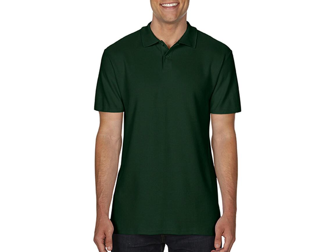 Gildan Softstyle® Adult Double Pique Polo, Forest Green, L bedrucken, Art.-Nr. 501095415
