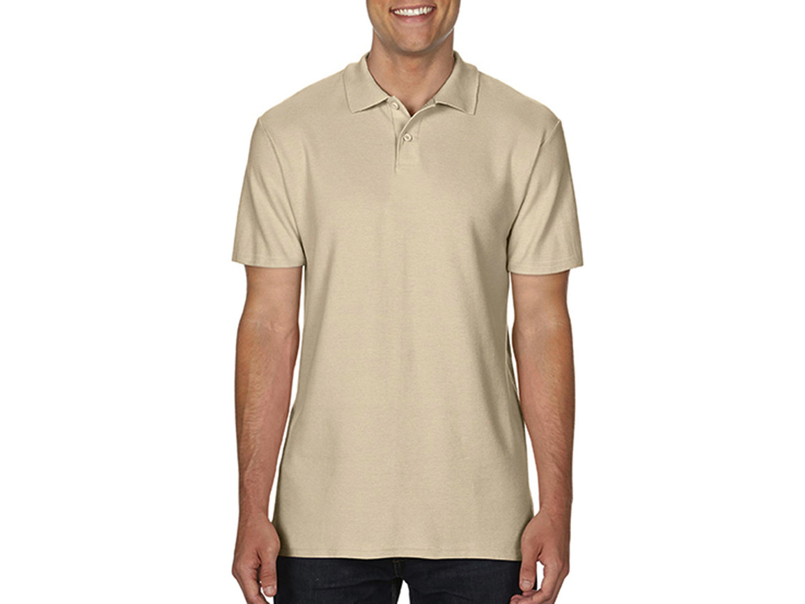 Gildan Softstyle® Adult Double Pique Polo, Sand, 3XL bedrucken, Art.-Nr. 501097418