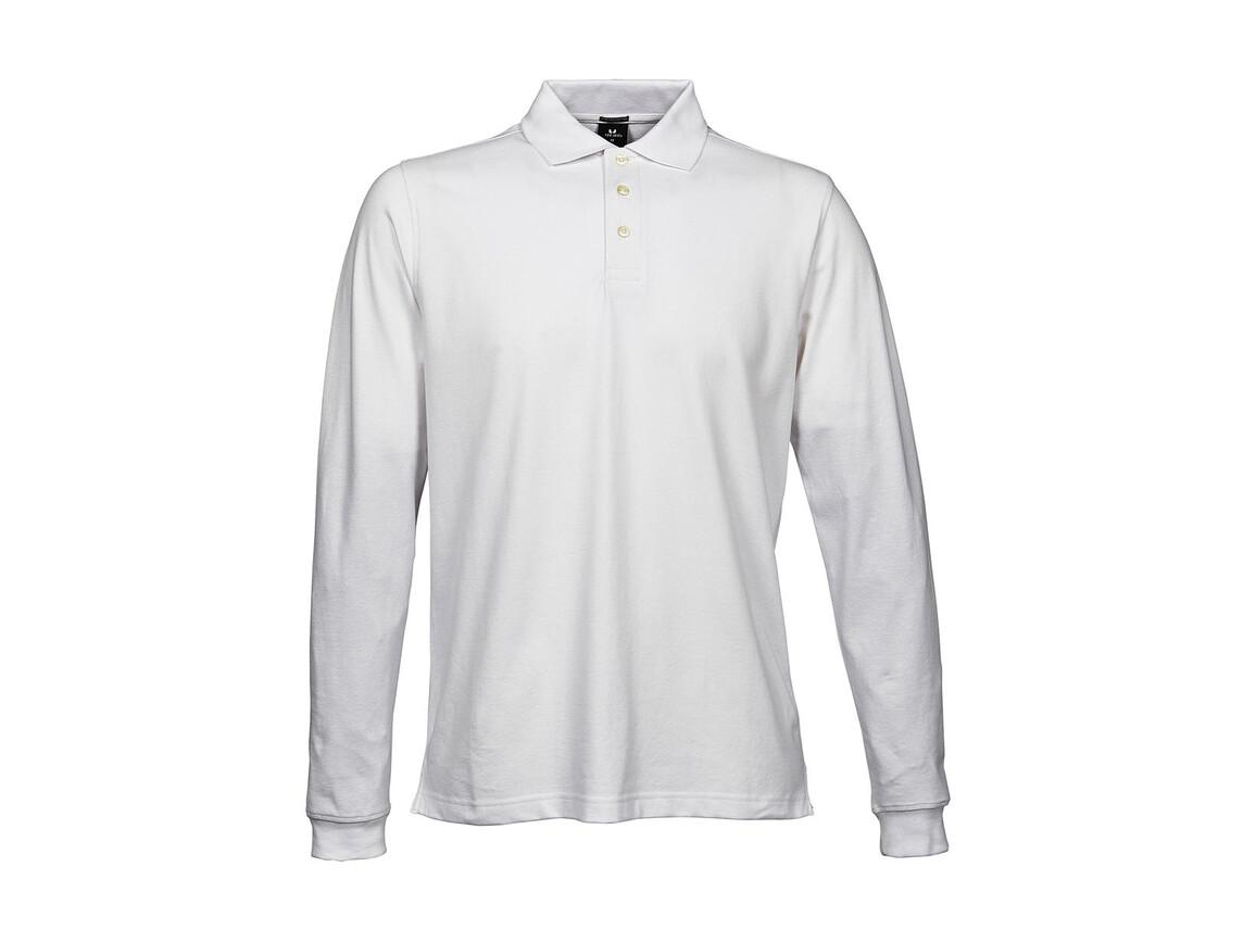 Tee Jays Luxury LS Stretch Polo, White, S bedrucken, Art.-Nr. 501540003