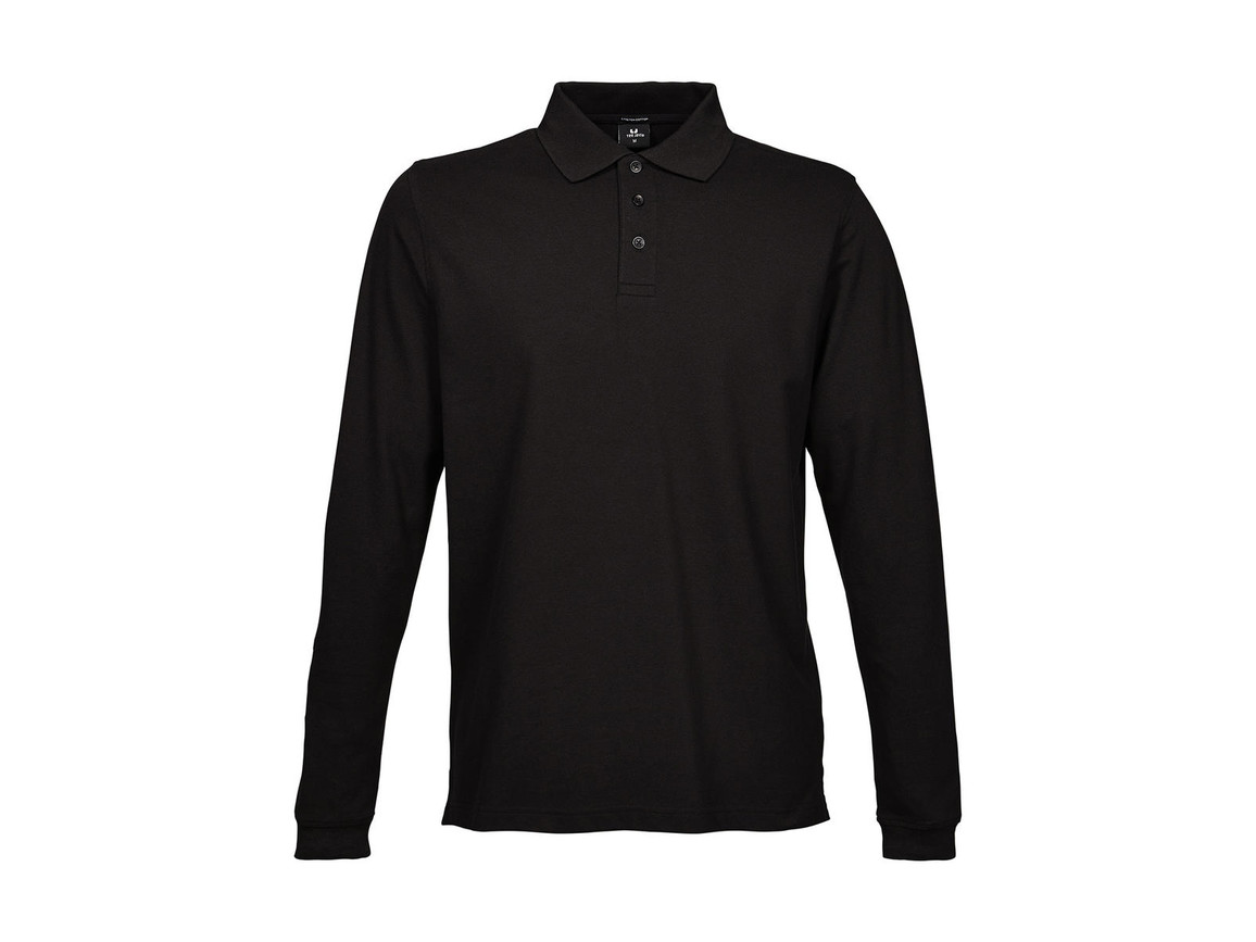 Tee Jays Luxury LS Stretch Polo, Black, 3XL bedrucken, Art.-Nr. 501541018