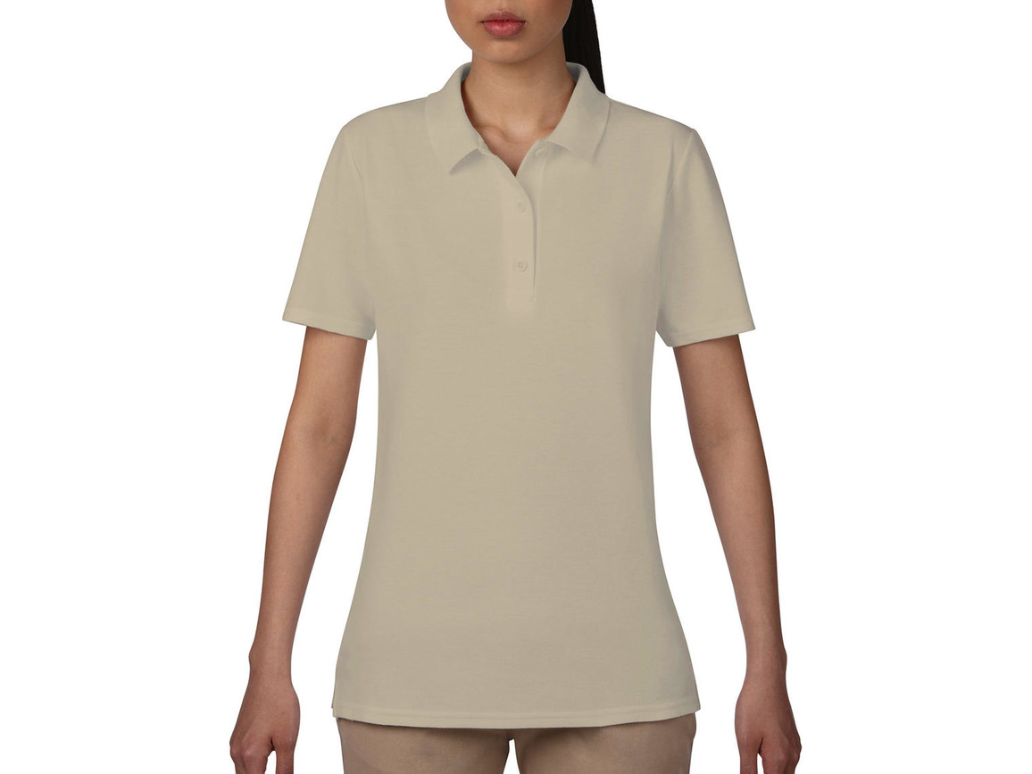 Anvil Women`s Double Piqué Polo, Cobblestone, M bedrucken, Art.-Nr. 503080124