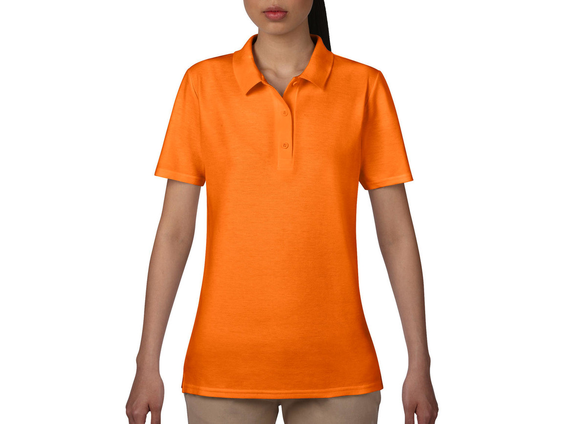 Anvil Women`s Double Piqué Polo, Mandarine Orange, S bedrucken, Art.-Nr. 503084113
