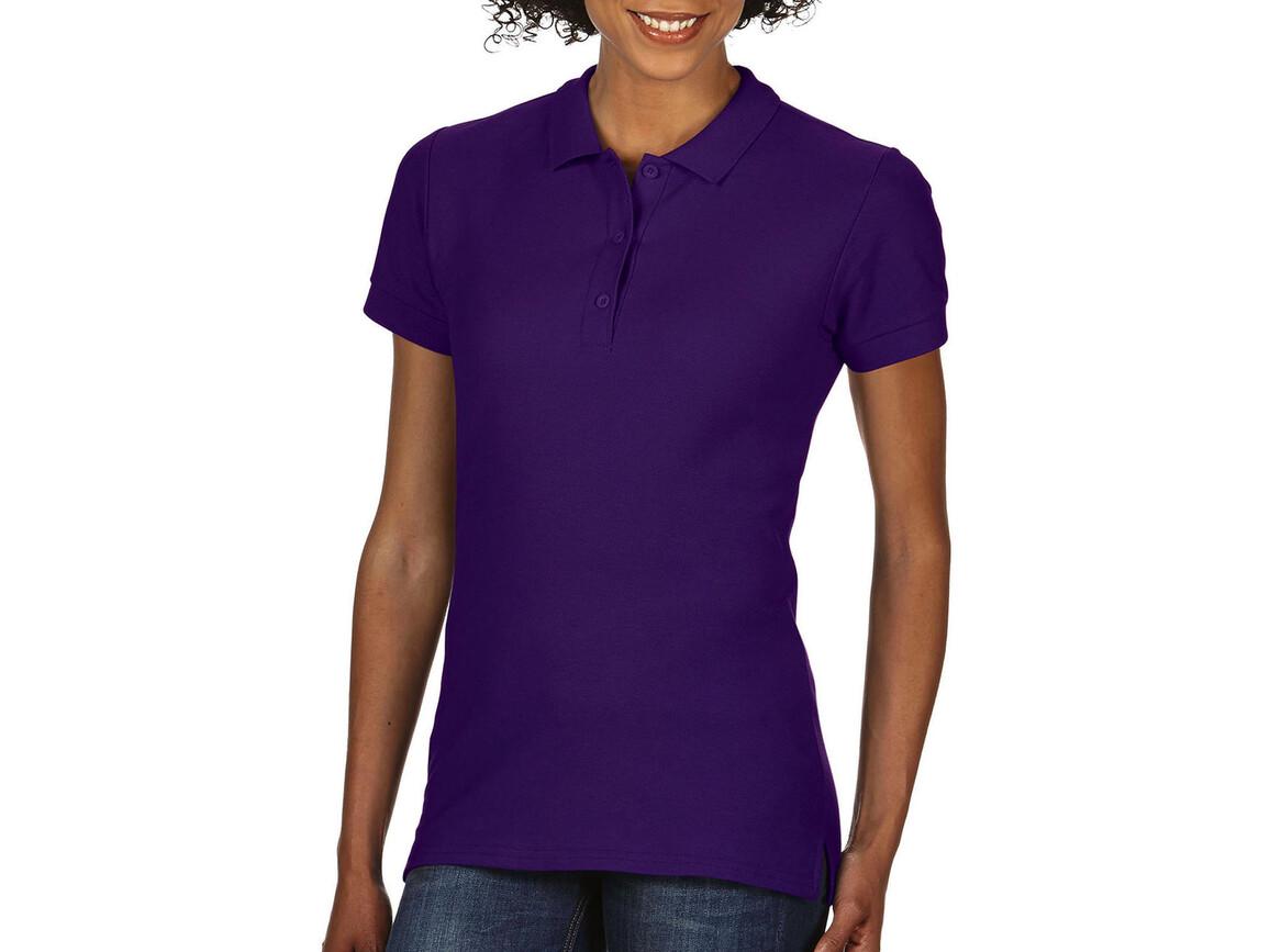 Gildan Premium Cotton Ladies` Double Piqué Polo, Purple, 2XL bedrucken, Art.-Nr. 503093497