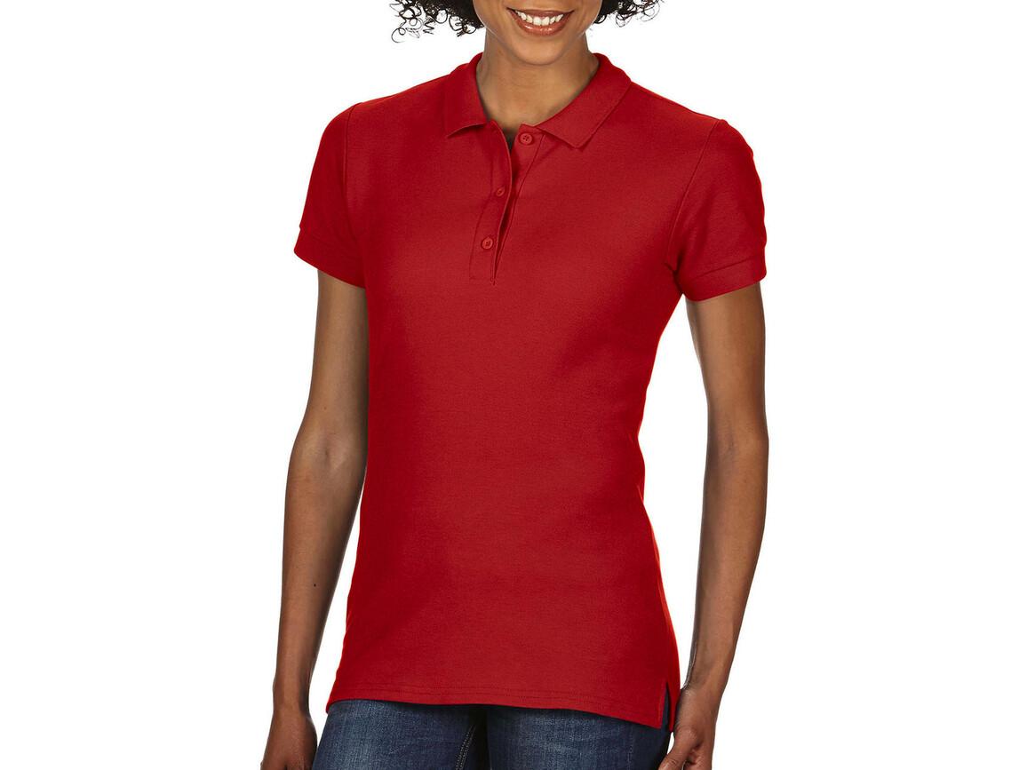 Gildan Premium Cotton Ladies` Double Piqué Polo, Red, XL bedrucken, Art.-Nr. 503094006
