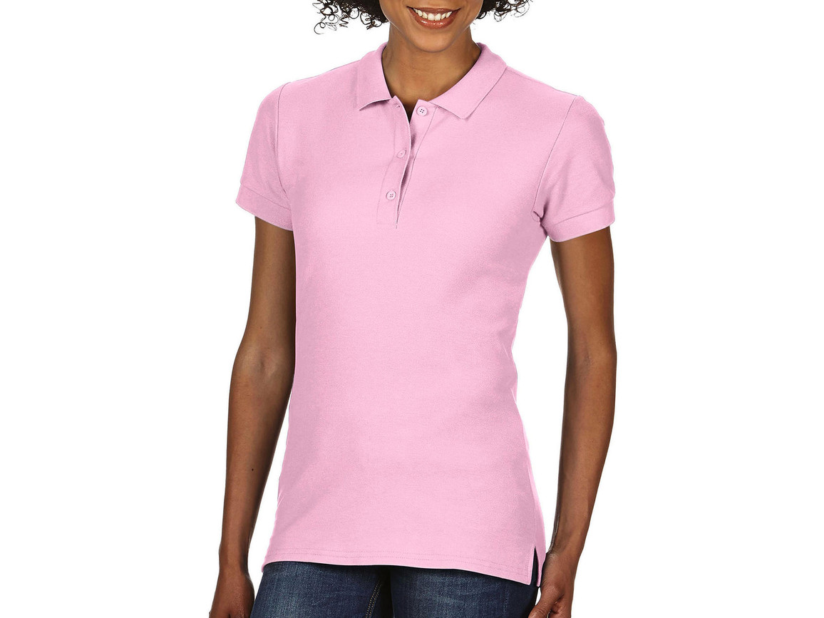 Gildan Premium Cotton Ladies` Double Piqué Polo, Light Pink, S bedrucken, Art.-Nr. 503094203