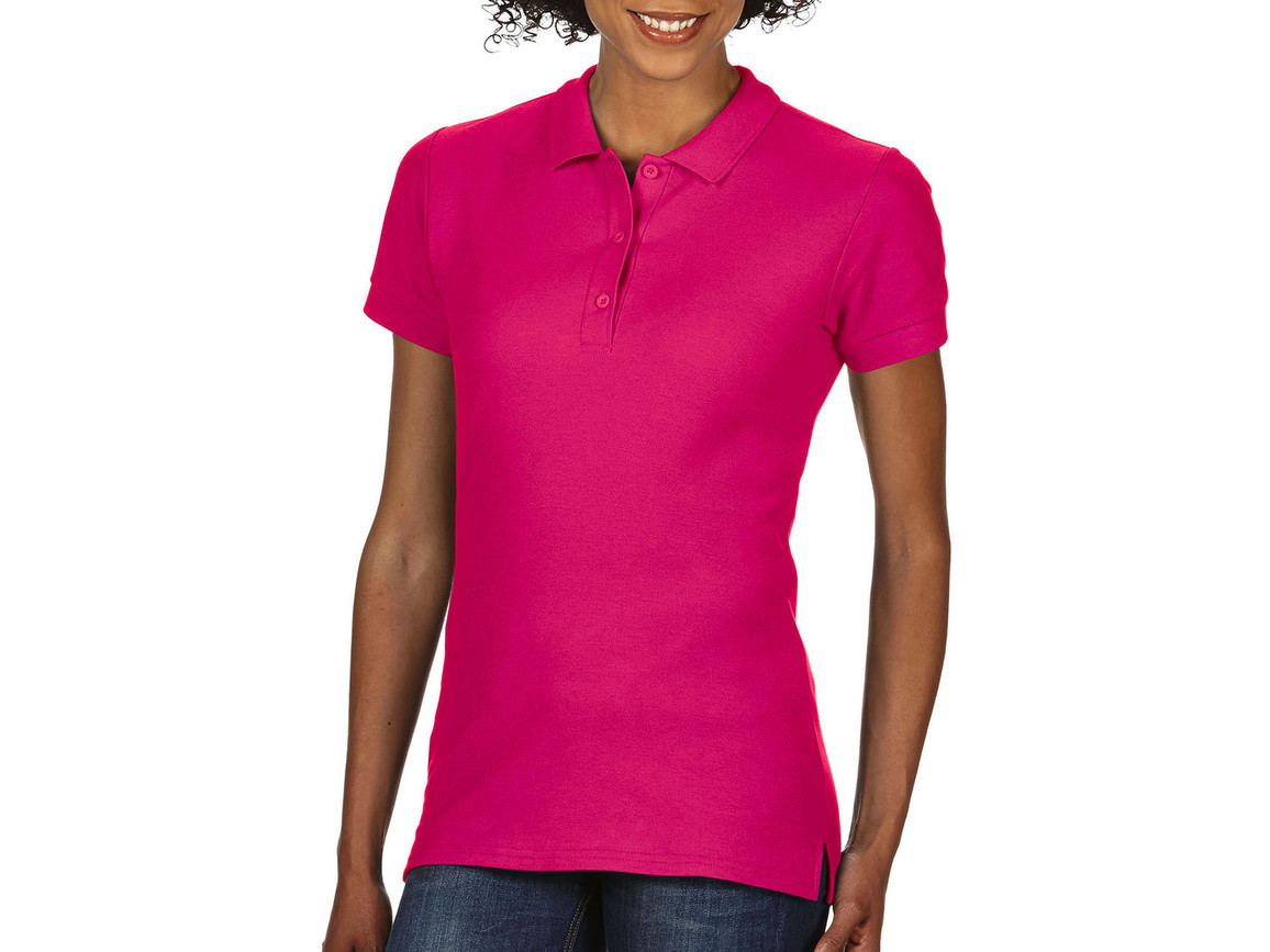 Gildan Premium Cotton Ladies` Double Piqué Polo, Heliconia, XL bedrucken, Art.-Nr. 503094316