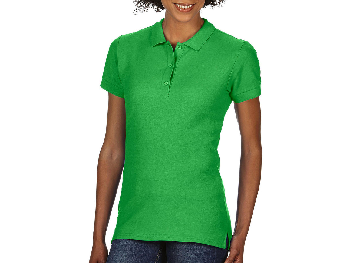 Gildan Premium Cotton Ladies` Double Piqué Polo, Irish Green, M bedrucken, Art.-Nr. 503095094